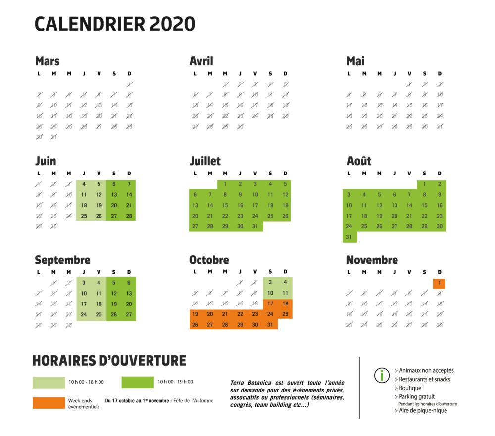 calendrier avec modif weekend octobre officiel
