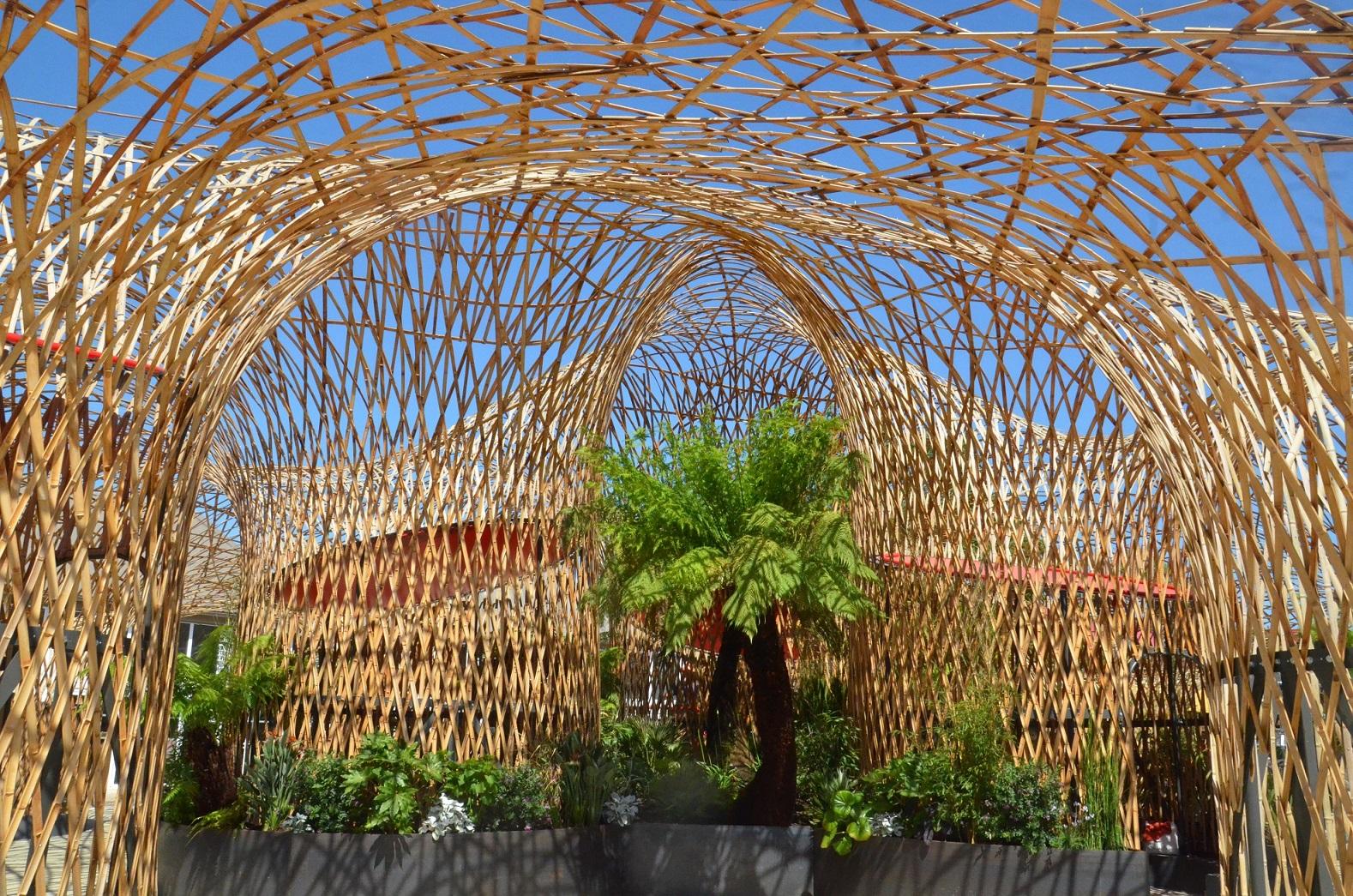 Terra Botanica L Oasis - nouveauté 2020 - strucuture en bambou