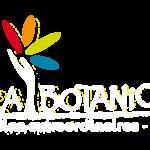 Logo blanc avec baseline